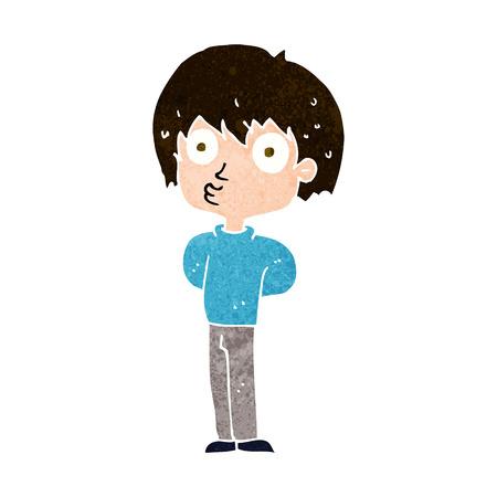 impressed: cartoon impressed boy Illustration