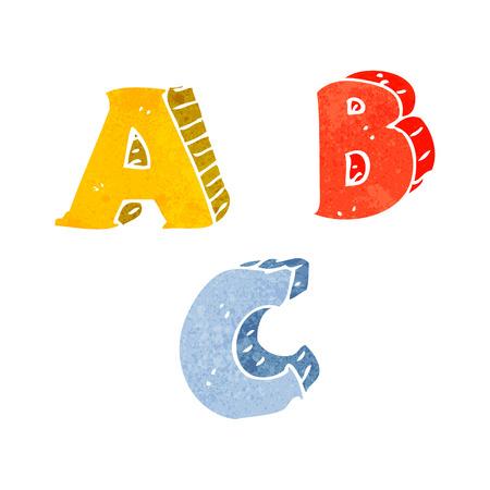 abc letters: cartoon ABC letters Illustration