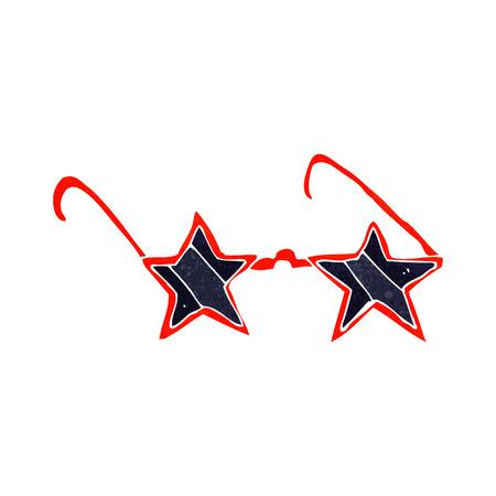 estrella caricatura: gafas de sol de estrella de dibujos animados