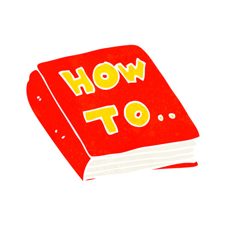 cartoon how to book Illustration