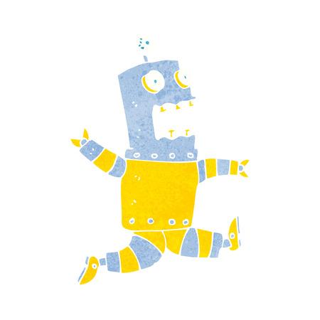 terrified: cartoon terrified robot