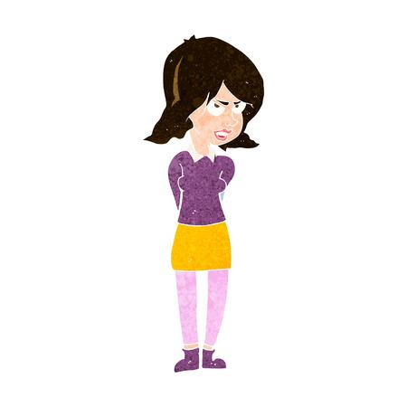 cartoon annoyed woman