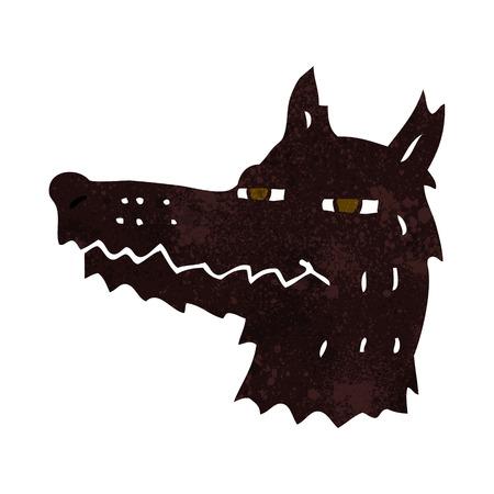 smug: cartoon smug wolf face