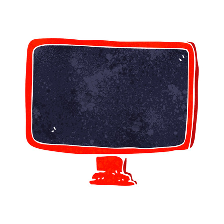 cartoon computer screen Vector