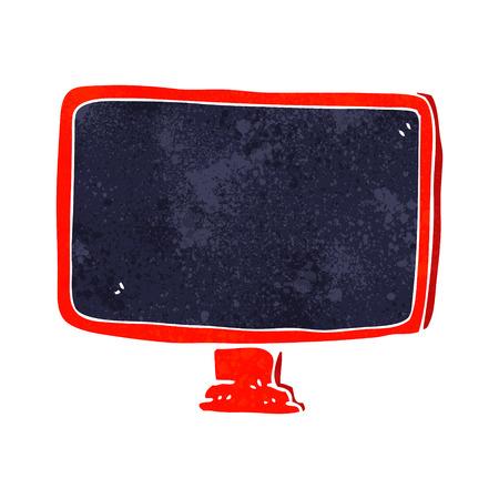 computer screen: schermo del computer fumetto Vettoriali
