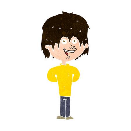 scruffy: cartoon happy scruffy boy
