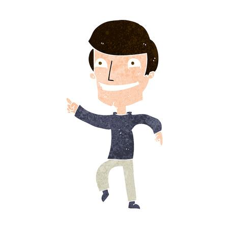 man pointing: cartoon happy man pointing Illustration