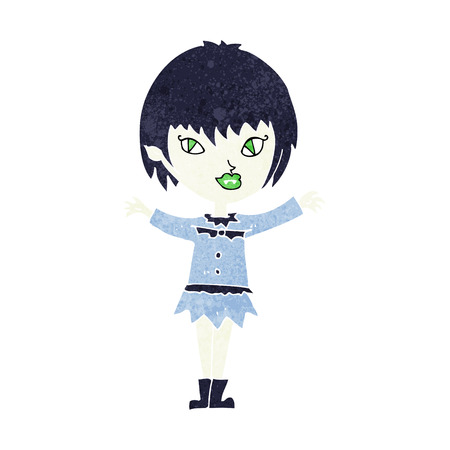 cartoon vampire girl Vector