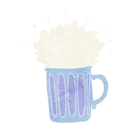 frothy: cartoon frothy beer Illustration