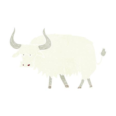 buey: dibujos animados molesto buey peludo Vectores