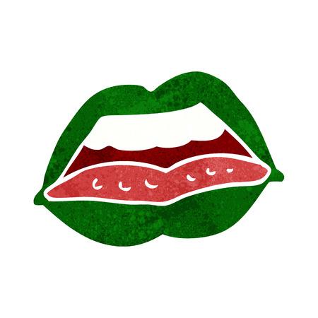 cartoon sexy halloween lips symbol Vector