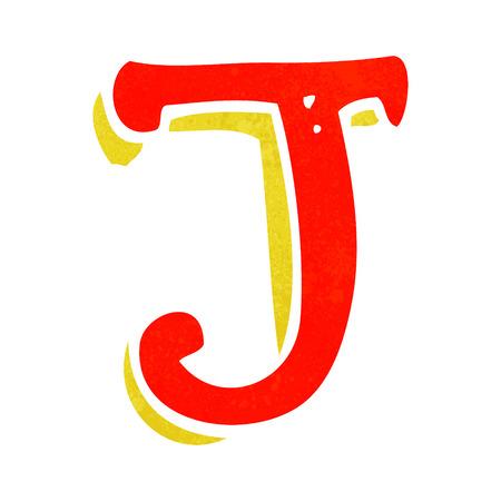 cartoon letter J