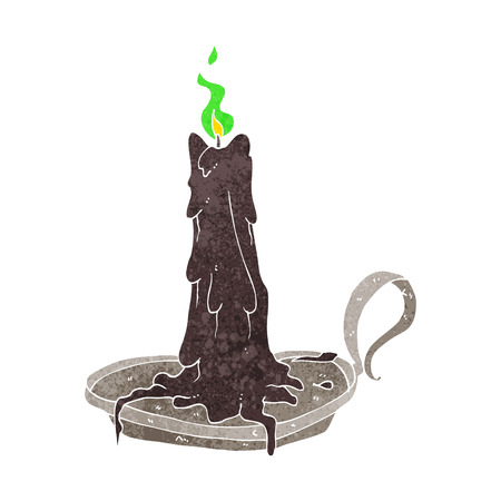 dribbling: cartoon spooky dribbling candle Illustration