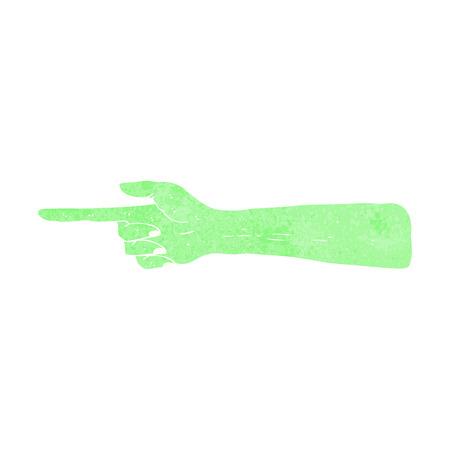 mano cartoon: indicando cartone animato mano zombie