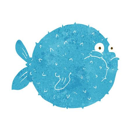 cartoon puffer fish Vector