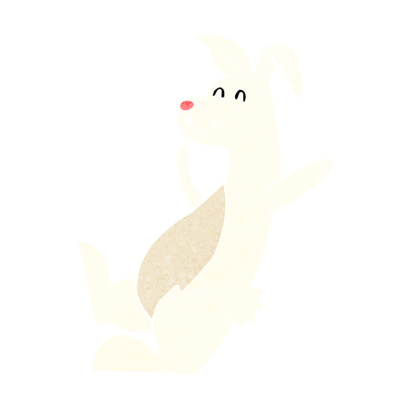 cartoon white rabbit Vector
