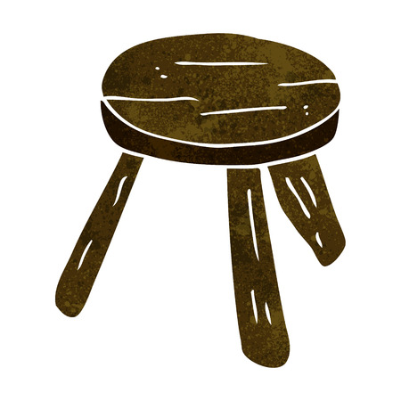 cartoon wooden stool Illustration