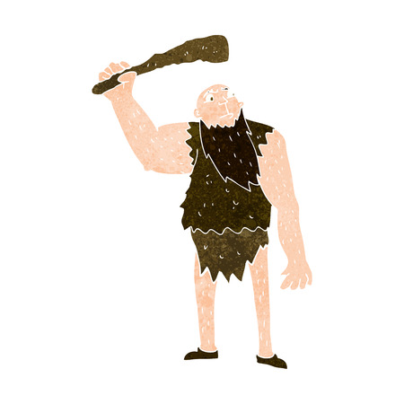 neanderthal: cartoon neanderthal Illustration