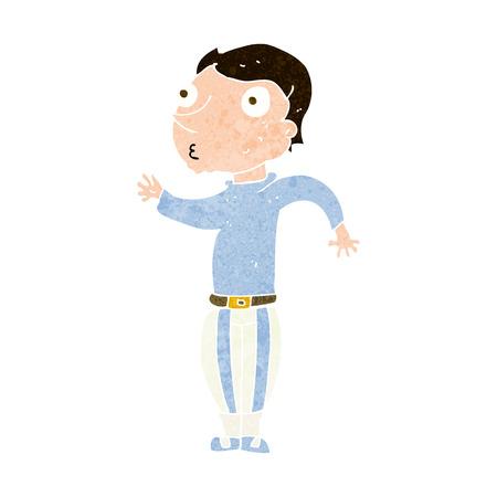 cartoon man in loud clothes Ilustração