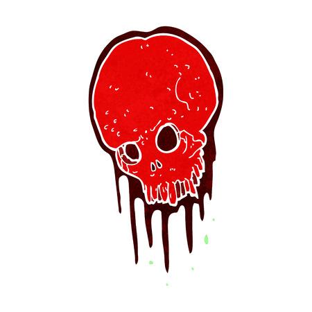 cartoon scary skull Фото со стока - 29022185