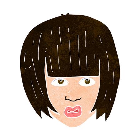 tough woman: cartoon annoyed girl with big hair