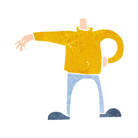 match head: cartoon male body making gesture (mix and match cartoons or add own photos as head)
