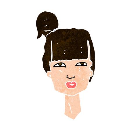cabeza femenina: cabeza femenina de dibujos animados