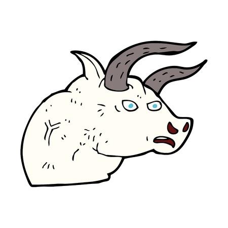 toro arrabbiato: cartone animato testa di toro arrabbiato Vettoriali