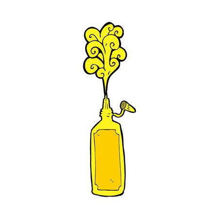 cartoon mustard bottle