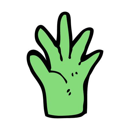 green hand: cartoon green hand symbol