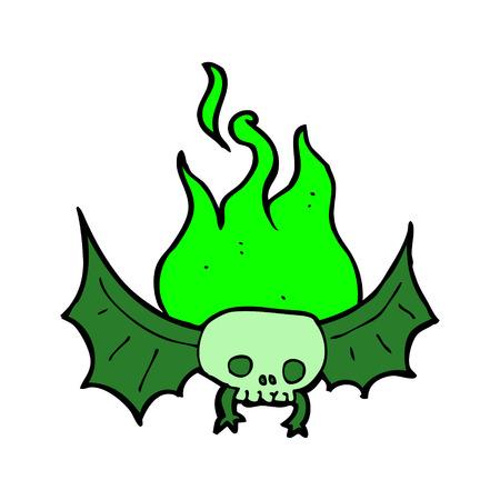 vampire bat: cartoon spooky skull bat
