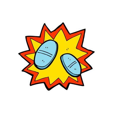painkillers: cartoon painkillers Illustration