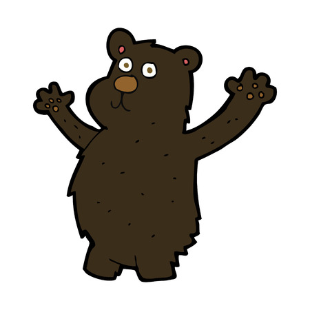 black bear: cartoon funny black bear
