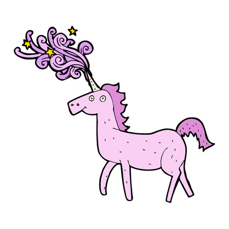 cartoon magical unicorn Vector