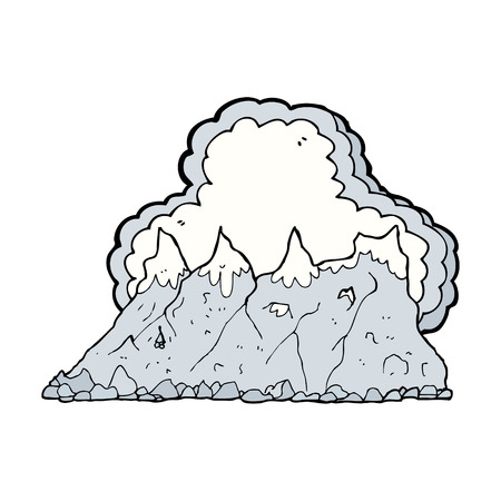 산맥: cartoon mountain range 일러스트