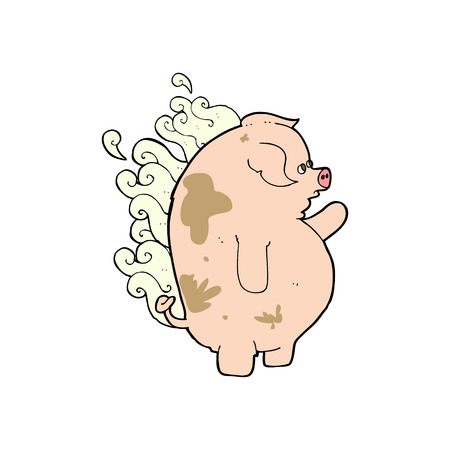 smelly: cartoon fat smelly pig