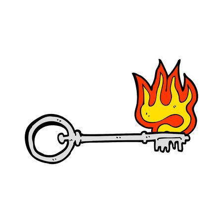 hand key: cartoon hot key
