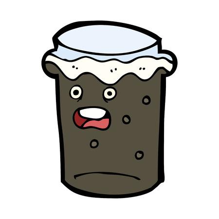 cerveza negra: cristal de la historieta de la cerveza stout