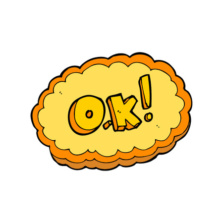 ok symbol: cartone animato simbolo OK