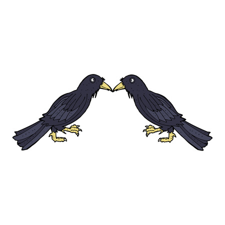 cartoon crows Vector