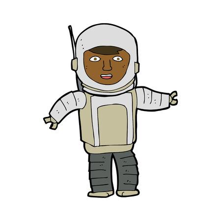 astronaut: cartoon astronaut Illustration