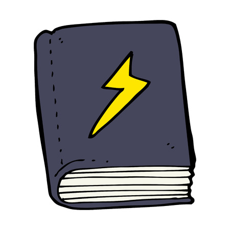 mani legate: cartone animato magico incantesimo libro