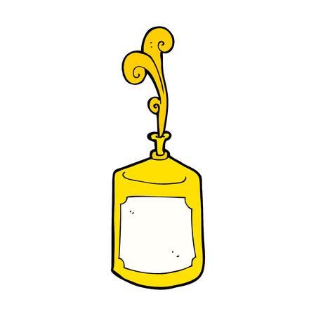 mustard: cartoon squirting mustard bottle