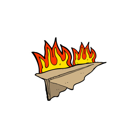 burning paper: cartoon burning paper aeroplane