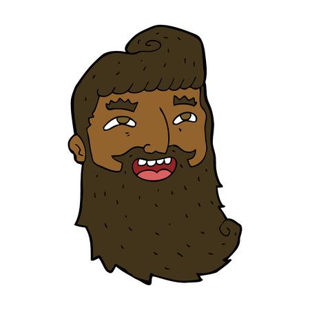 cartoon laughing bearded man