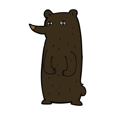 funny cartoon black bear Illustration