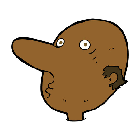balding: cartoon balding man Illustration