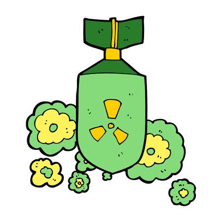 cartoon nuclear bomb Stock Vector - 30624716