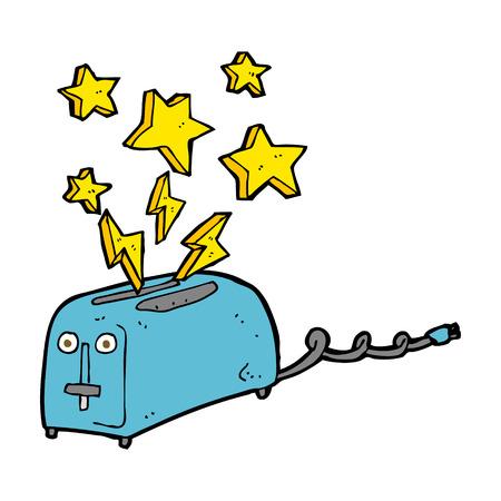 sparking: cartoon sparking toaster