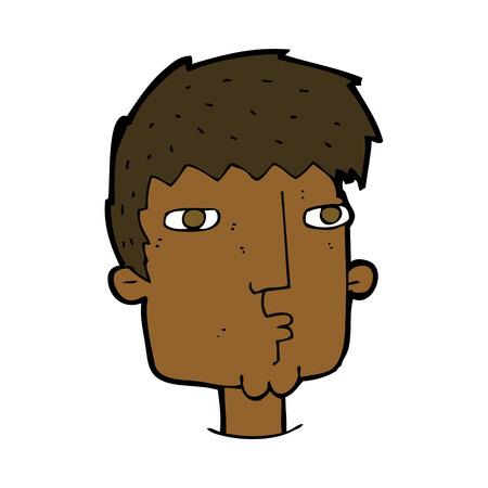 meraklı: karikatür meraklı adam Çizim